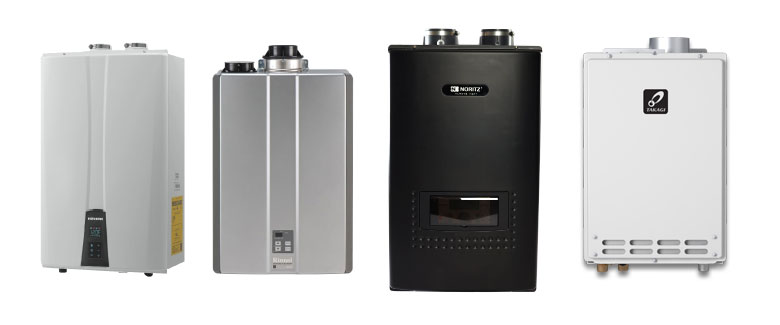 Navien tankless warter heaters provide endless hot water!