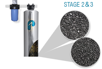 Stages 2 and 3 of the Pelican Whole House Filtration System